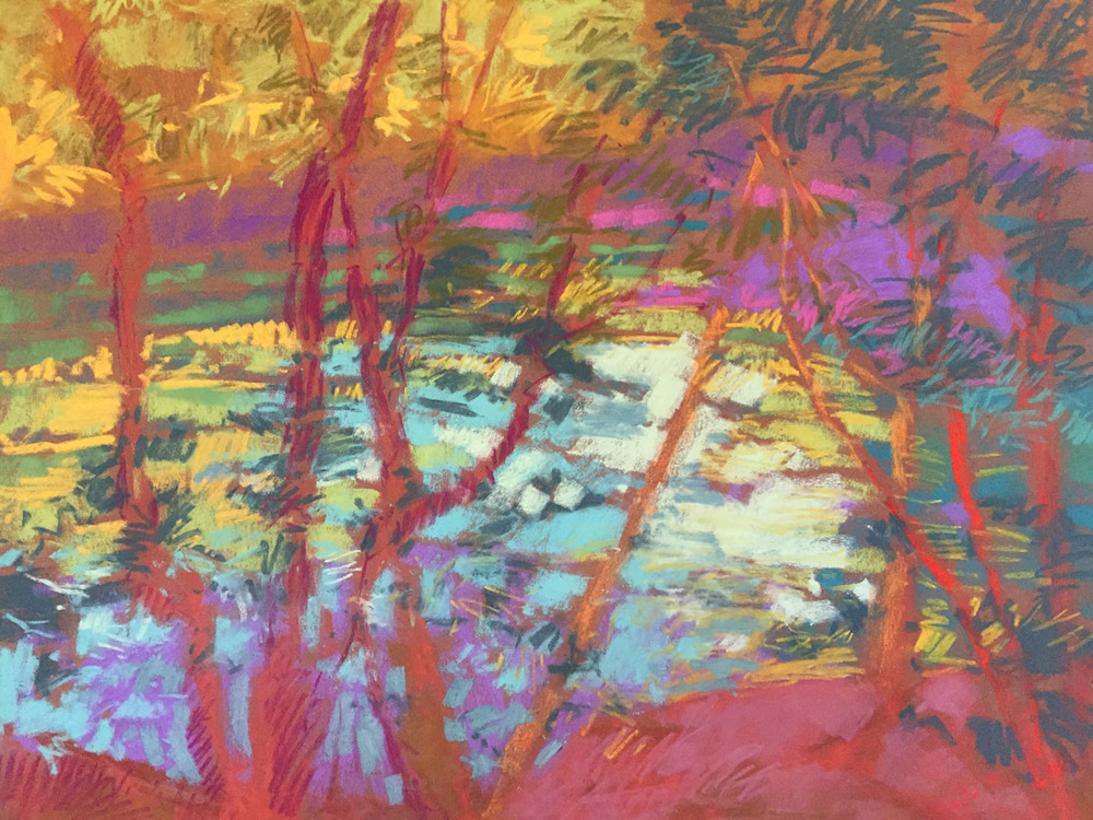 river Tapestry pastel by Dorothy Fagan