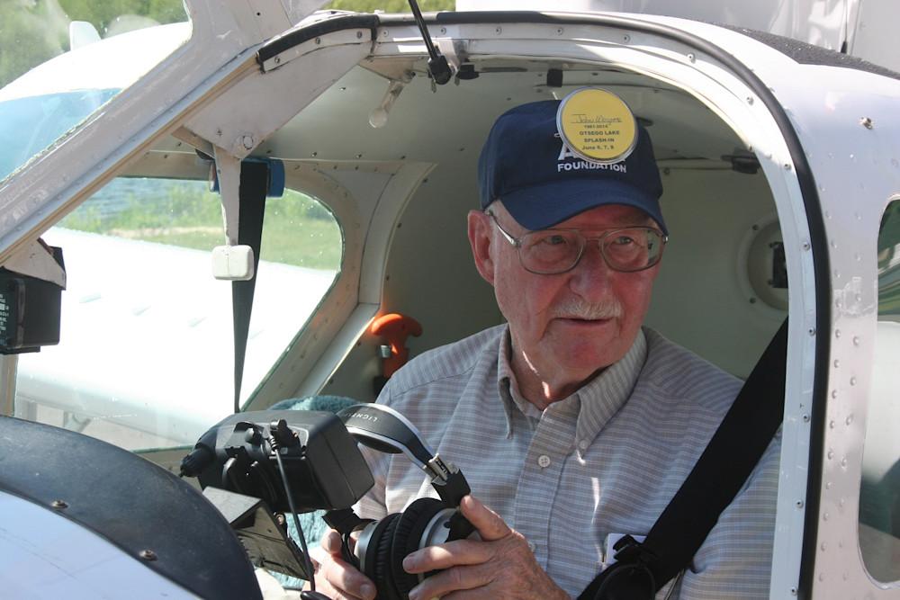 John L. Wagner pilot in cockpit
