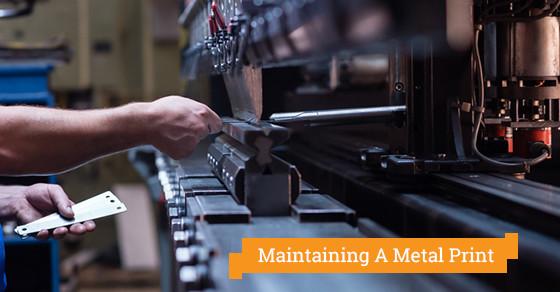 Maintaining A Metal Print
