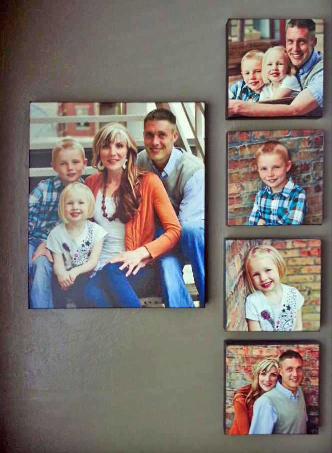 Valentine's Day Gift Guide - Family Portrait Custom Canvas Prints