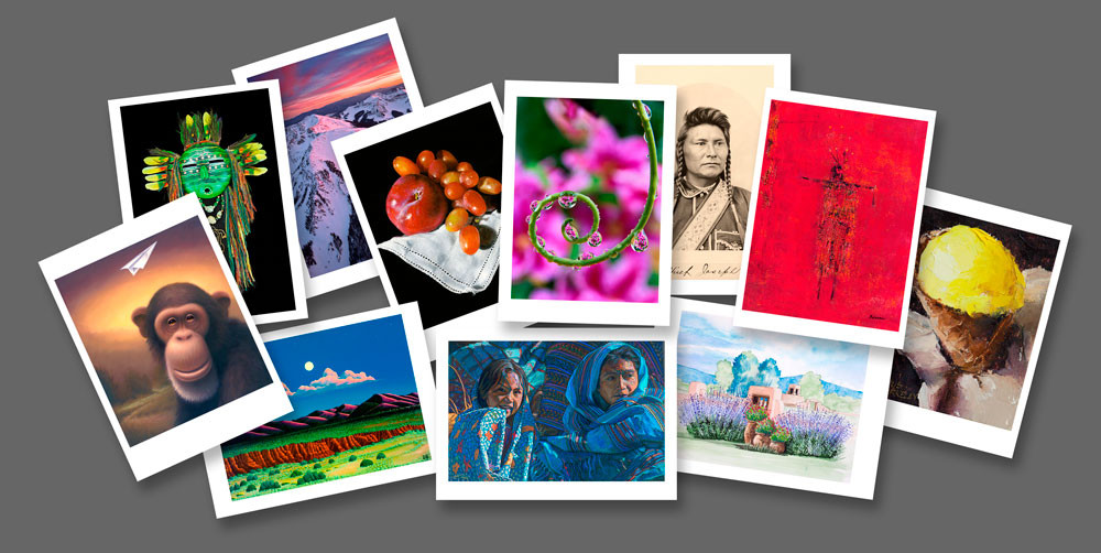 Archival greeting cards fine art new mexico mini giclee prints our beautiful cards are suitable for framing and each card comes in a crystal clear acid free bag with an envelope m4hsunfo