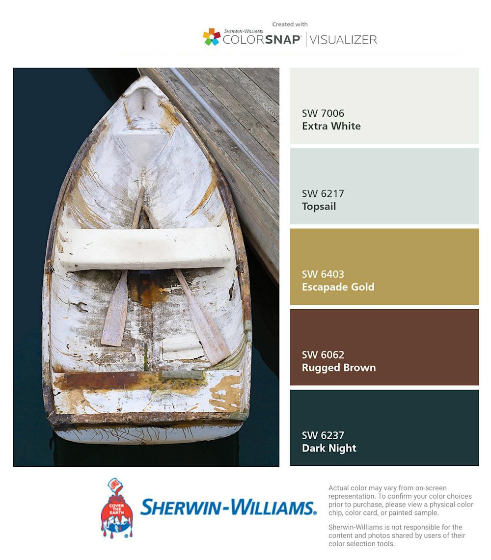 Nautical Wall Decor Vertical Boat Photography Rowboat Art Print Large