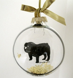 bull dog ornament