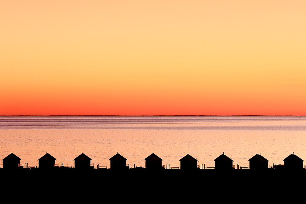 cape cod truro provincetown days cottages sunset photograph print