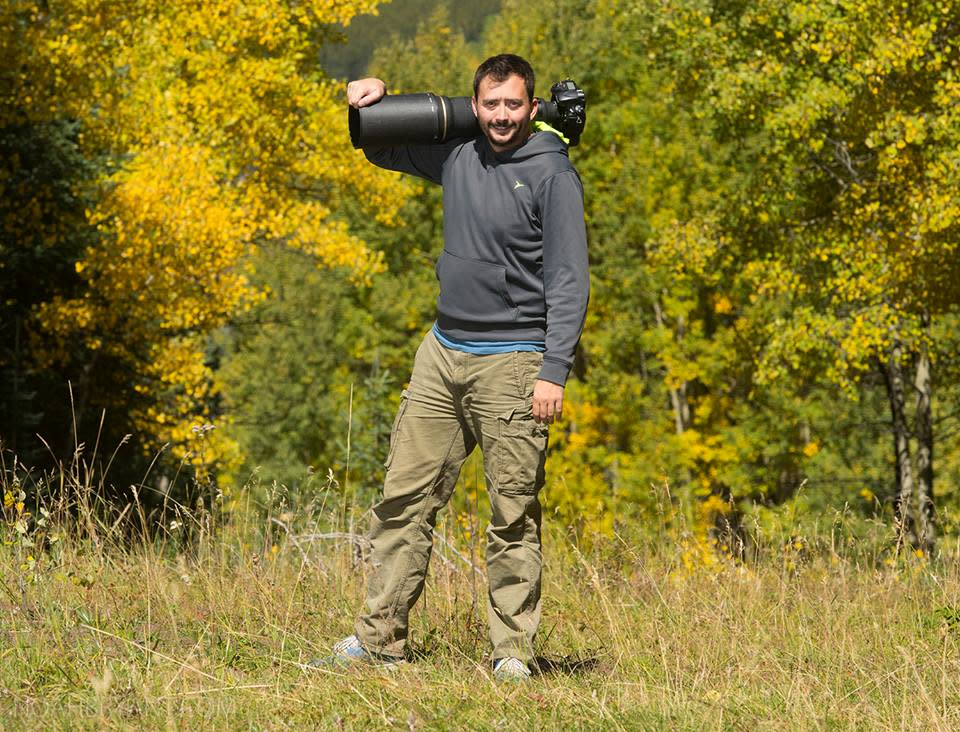 Noah Bryant while photographing in the Rocky Mountains.