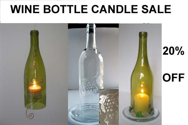 Wine Bottle Candle Sale
