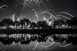 Reflections of Illuminations. A Fine Art Image of Disney's Fireworks.