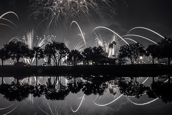 Disney Fireworks. Disney Fine Art Prints. Reflections of Illuminations at Epcot.