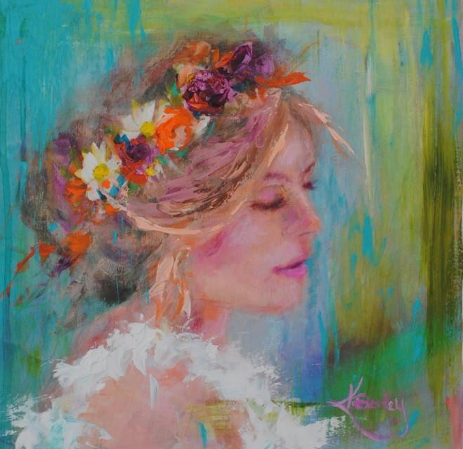 Always Bohemian Painting by Kelly Berkey