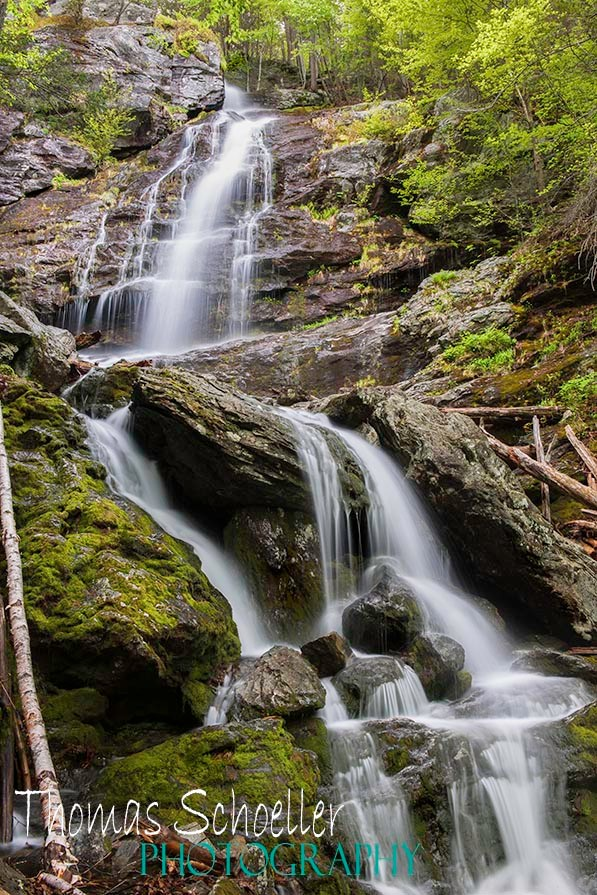 Race Brook Falls in the southern Berkshires of Massachusetts by photographer Tom Schoeller