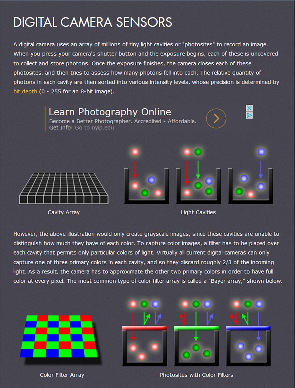 How Digital Camera Sensors Work