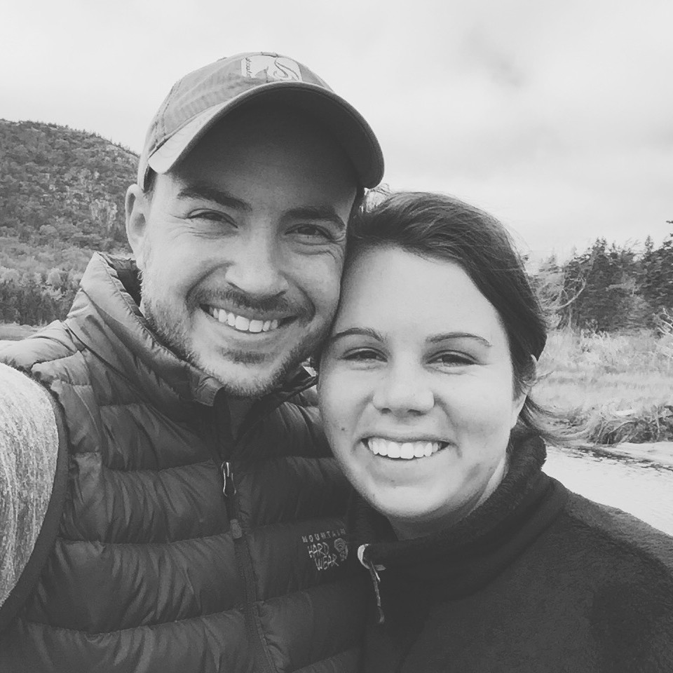 Andrew & Hannah Vernon on vacation in Acadia National Park