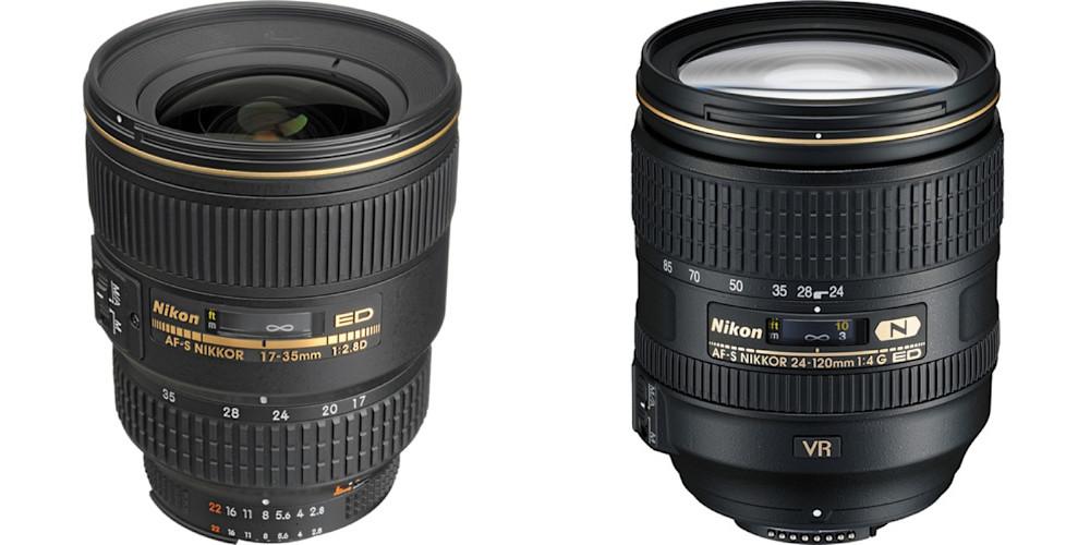 Nikon 17-35m F2.8 & Nikon 24-128m F4