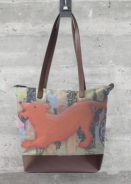 orange dog purse