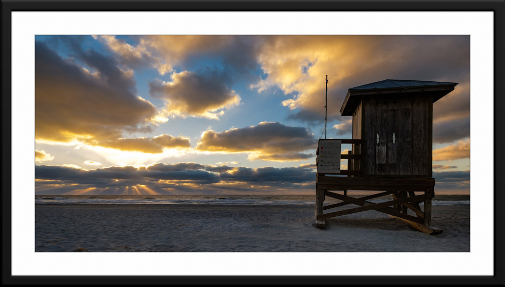 A framed & matted landscape photograph by Andrew Vernon taken in Clearwater Beach, Florida