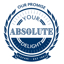 Stefani Fine Art – our promise – your absolute delight badge
