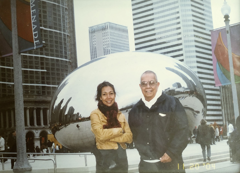 Me and my Dad in Chicago, 2004.