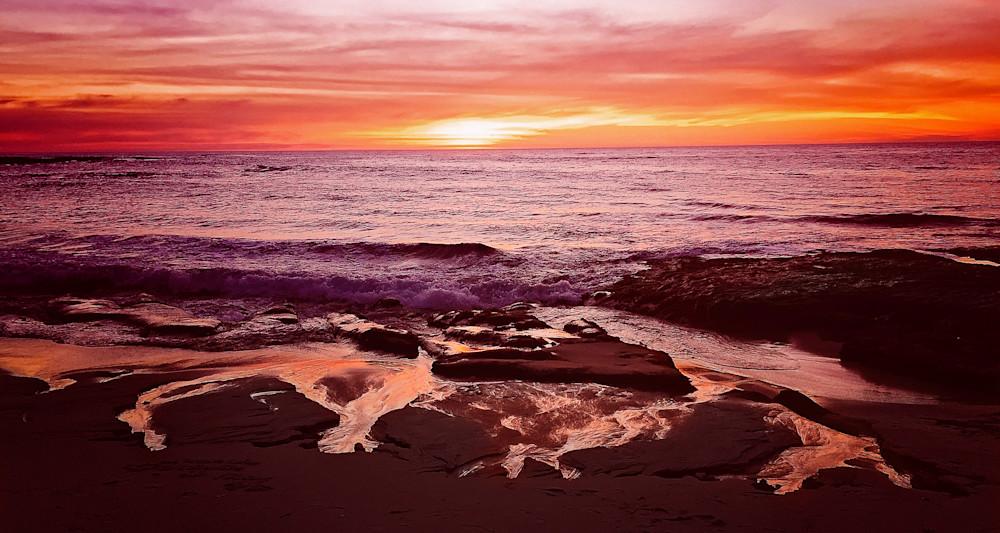 Colorful Sunset at La Jolla California