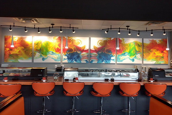 Soy Sushi Custom Restaurant Art