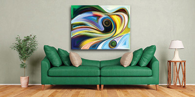 Using colour to choose art for your home by buyartnow.com.au