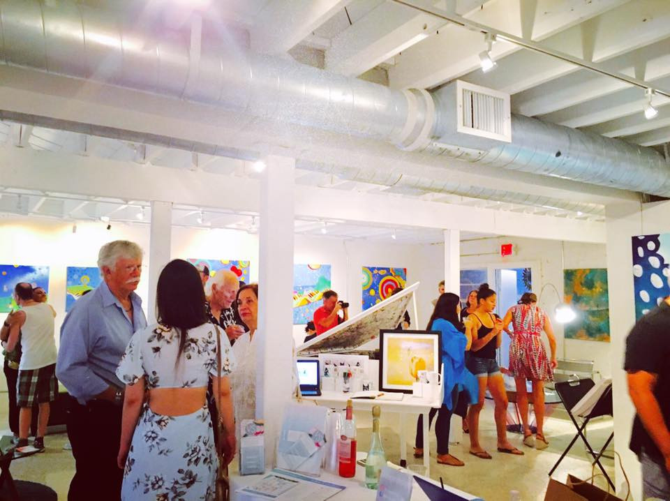 Opening Night at Village Design Art Gallery, Fort Lauderdale