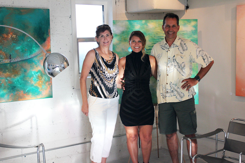 Barbara, Gabriela Esquivel and Bob at Village Design Art Gallery