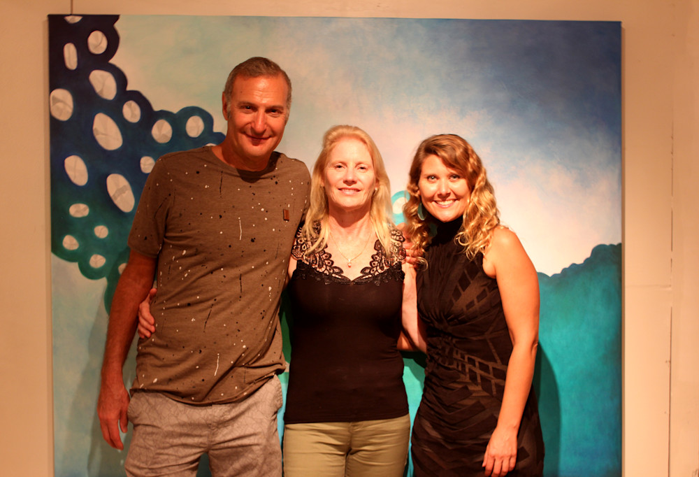 Robert, Julie Coppola and Gabriela Esquivel at Village Design Art Gallery