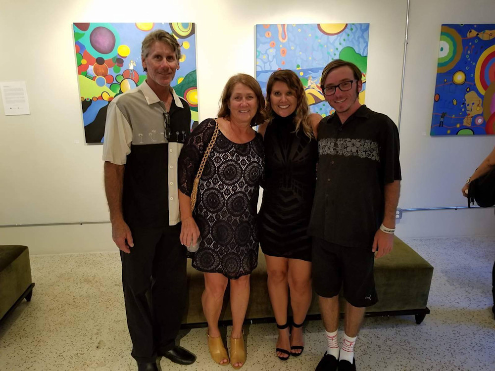 Wurts Family and Gabriela Esquivel at Village Design Art Gallery