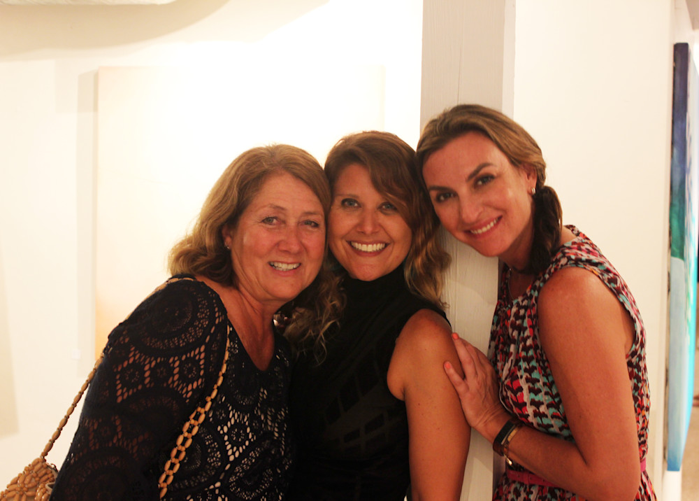 Beverly Wurtz, Gabriela Esquivel and Kelly Goethals at Village Design Art Gallery