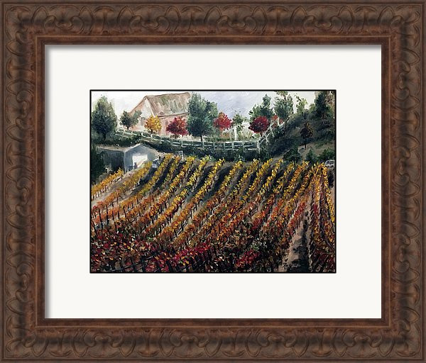 Sample frame and matting:  Autumn Vines Temecula