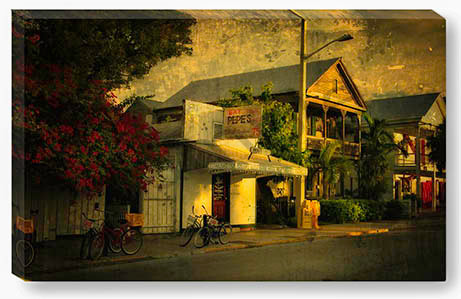 Pepe's of Old Town Key West Florida as a Canvas gallery print, artwork © Thomas Schoeller Photography