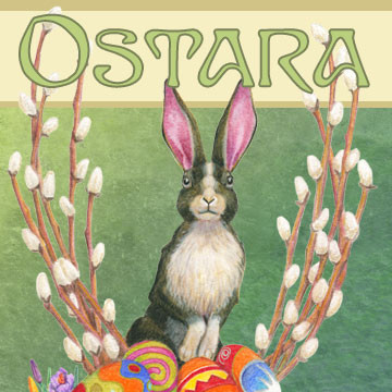 Send great greeting cards for Ostara with art by Melissa A Benson