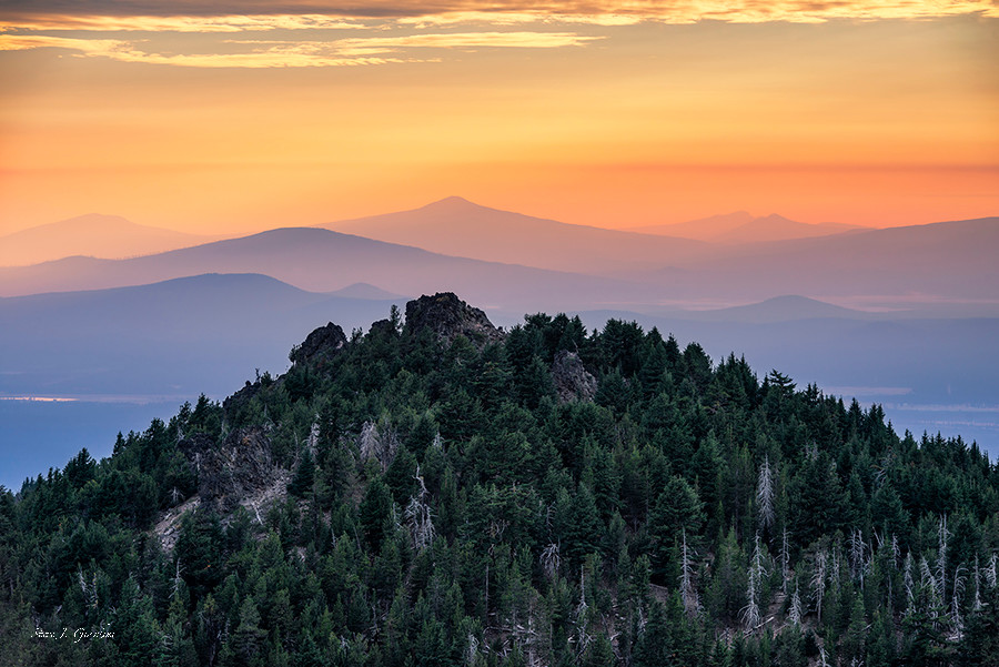 Fine Art Photo Print Paulina Peak Sunset