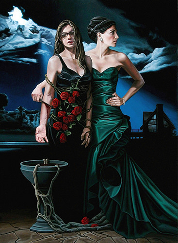 "Realism artist Kevin Grass's ""Vampire"" painting is about people who take delight in harming others."