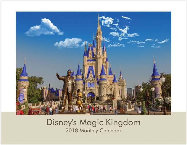 NEW 2018 Disney's Magic Kingdom Wall Calendar