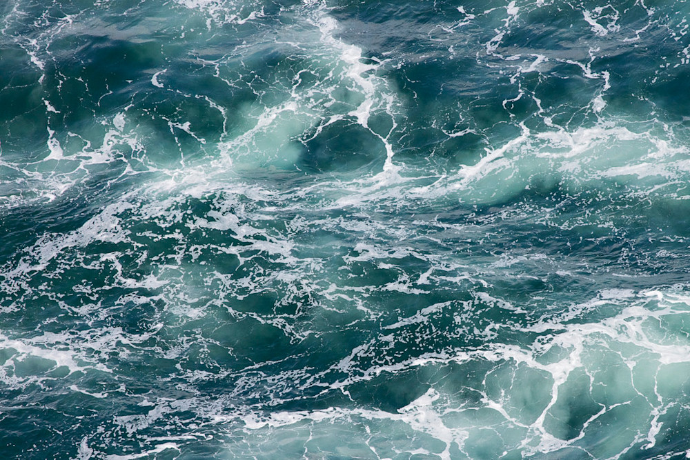 ocean waves photography, aerial ocean photo, storm surf print, large beach art, teal, aqua, green, white