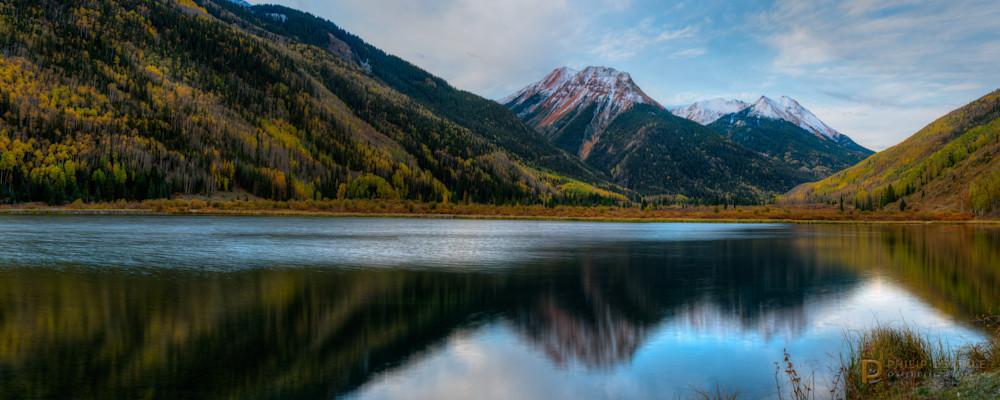 Crystal Lake shortly after sunrise.  San Juan Mountains, Colorado
