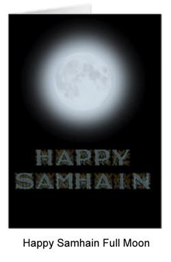full moon card for Samhain