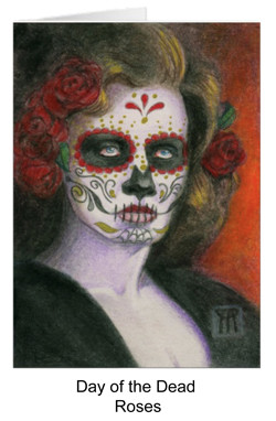 Day of the dead portrait with roses