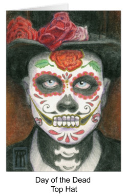 Day of the dead portrait with top hat
