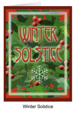 Winter solstice with holly