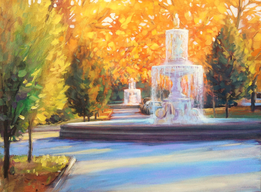 """Fall Fountains"" (Woodruff Place) - Indianapolis, IN"