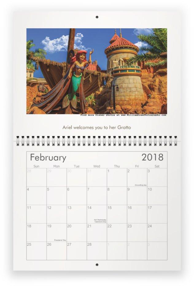 2018 Magic Kingdom Wall Calendars for sale!