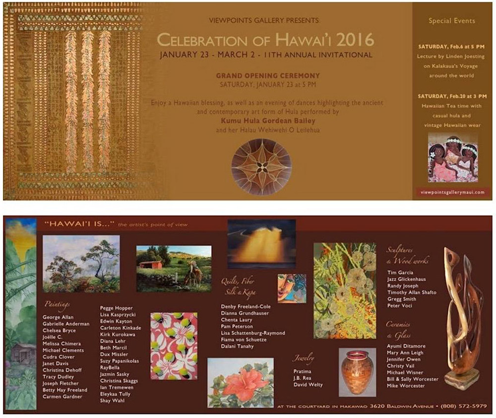 Celebration of Hawaii 2016 at Viewpoints Gallery in Makawao