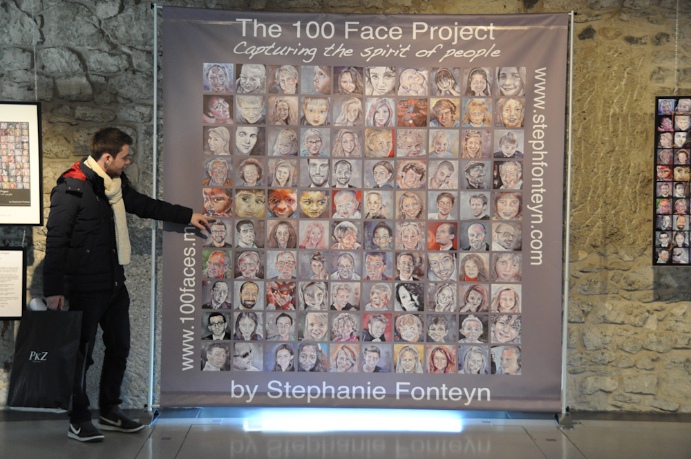 The 100 Faces Project Mosaic