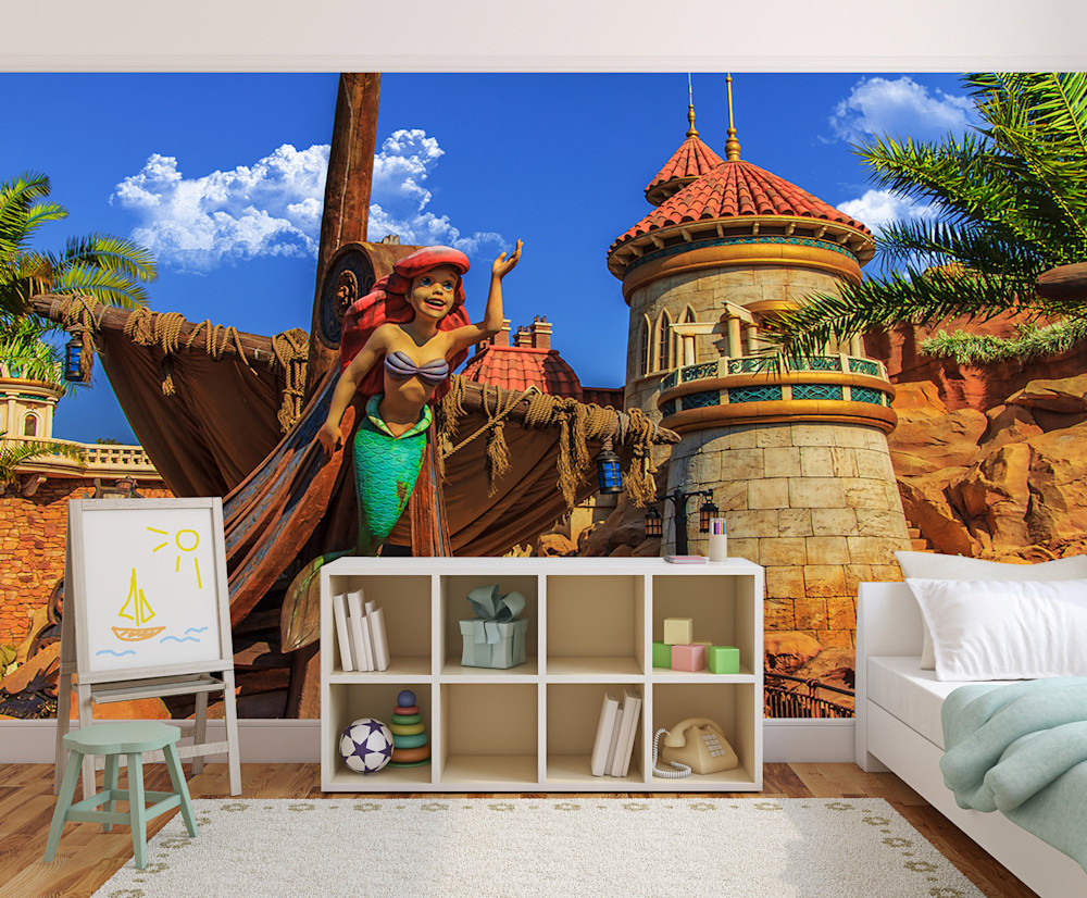 Ariel Little Mermaid Wall Mural | William Drew Photography