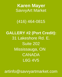 SavvyArt Market's Second Gallery located in Port Credit, ON