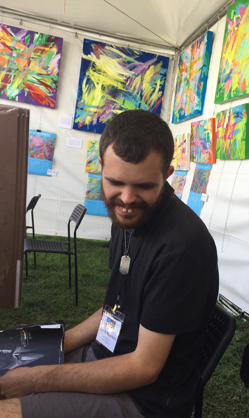 Jeremy at ArtWalk@Liberty Station 2017