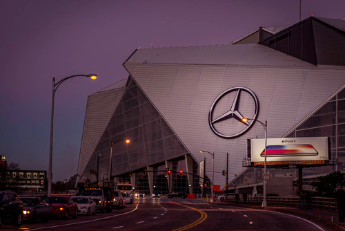 Early morning at the new Mercedes-Benz Stadium