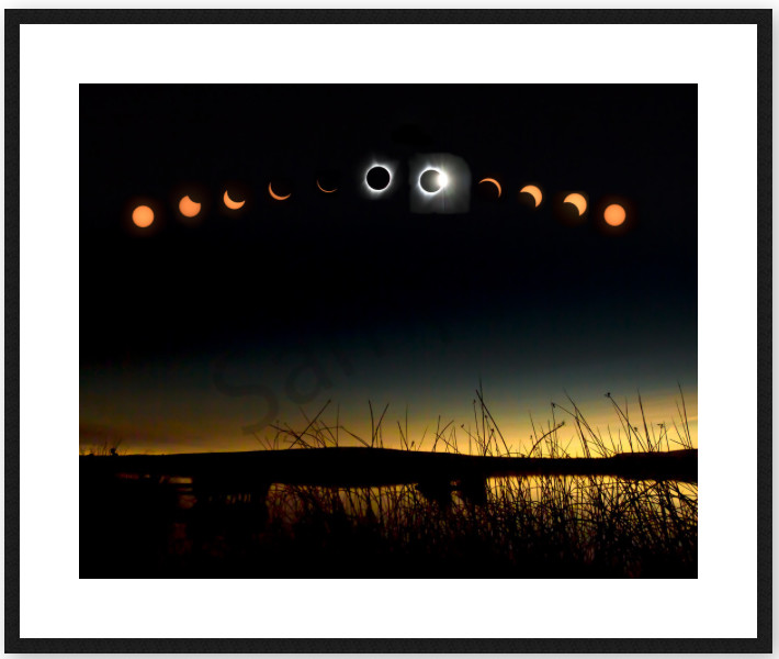 Total Eclipse Framed Fine Art Photo by Barb Gonzalez Photography